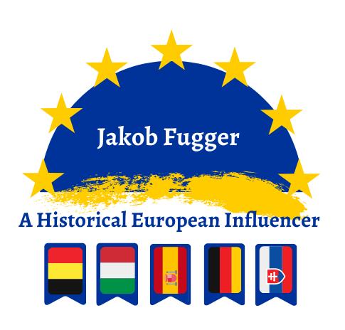 Logo for Erasmus+ project about Jakob Fugger